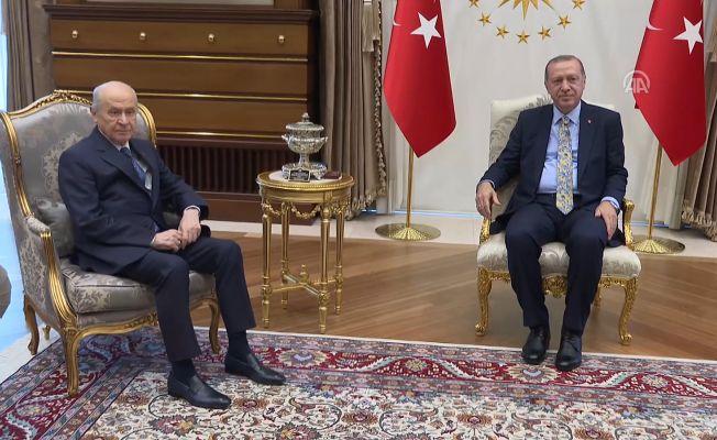Erdoğan-Bahçeli Görüşmesi Tamamlandı