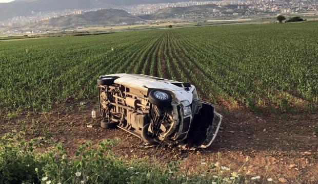 Kahramanmaraş'ta Yolcu Minibüsü Devrildi:6 Yaralı