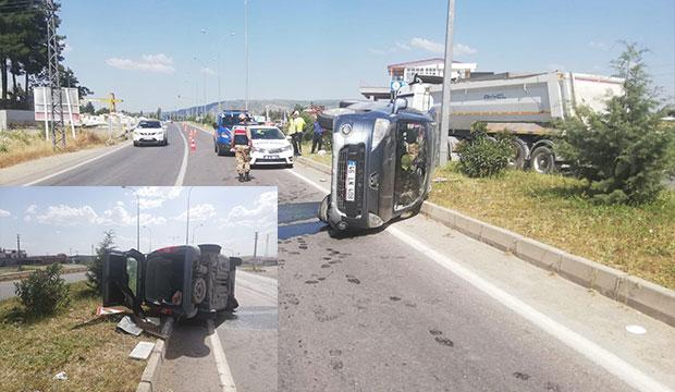 K.Maraş'ta Ölümlü Kaza; Hafif Ticari Araç Refüje Çarptı!