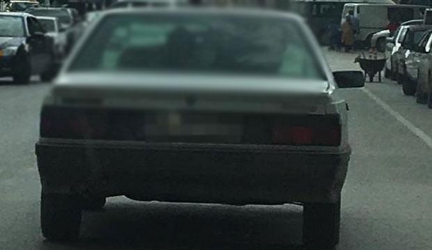 Otomobilin Arka Koltuğunda Bakın Ne Taşıdı ?
