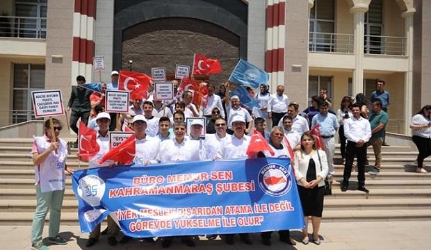 Kahramanmaraş'ta Büro Memur-Sen Üyelerinden Adliye Önünde Eylem