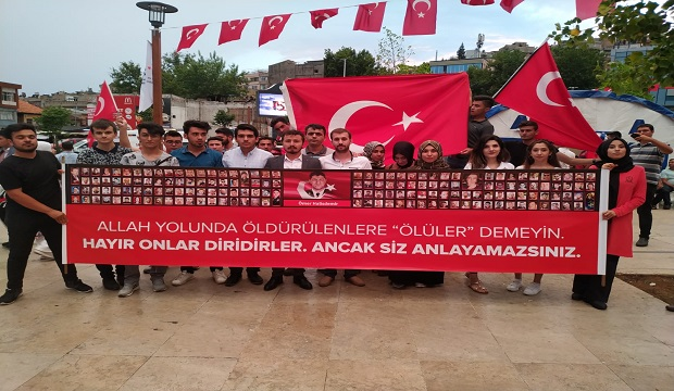 Asım'ın Nesli Gençlik Platformundan 15 Temmuz'a Özel Pankart!