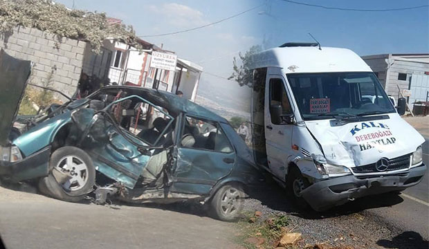 Kahramanmaraş'ta Feci Kaza! Araç Hurdaya Döndü