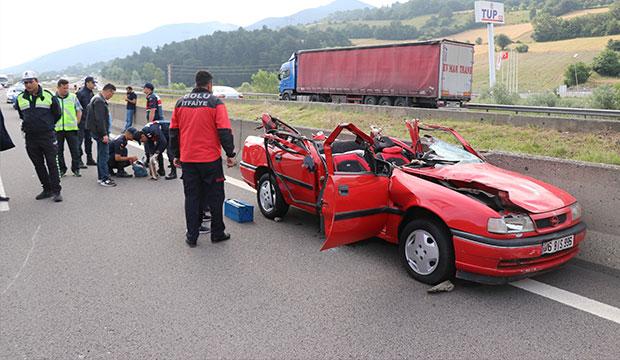 Kahramanmaraşlı Aile Bolu'da trafik kazası geçirdi: 1 ölü, 2 yaralı