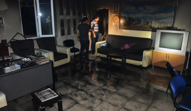 Kahramanmaraş'ta Muhtarlık Binası Yandı