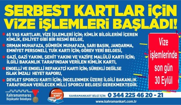 Büyükşehir'den Kahramankart Vize Açıklaması:30 Eylül'e Kadar Uzatıldı