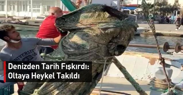 Denizden Tarih Fışkırdı: Oltaya Heykel Takıldı