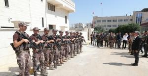 Hatay Valisi Rahmi Doğan Afrin'de incelemelerde bulundu
