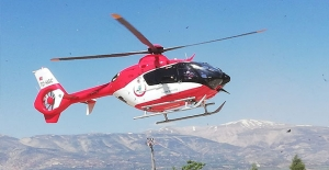Kahramanmaraş'ta ambulans helikopter yaşlı adam için havalandı